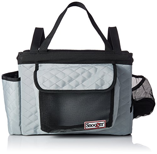 Snoozer Buddy Bike Basket, Grey and Black