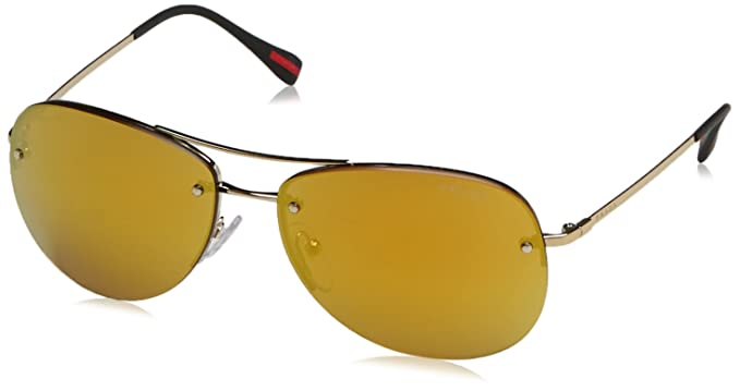 Prada Sport 0PS50RS ZVN5N0 59 Gafas de Sol, Dorado (Orange), Unisex Adulto