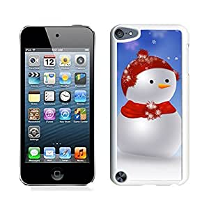 Ipod 5 Cases,Christmas Red Scarf Hat Snowman White Hard Shell Plastic Apple Ipod Touch 5th Cases
