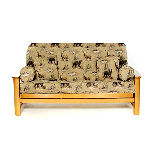(LS COVERS WOODLANDS FULL FUTON COVER, Full Size Fits 6-8in Mattress, 54 x 75 Inch)