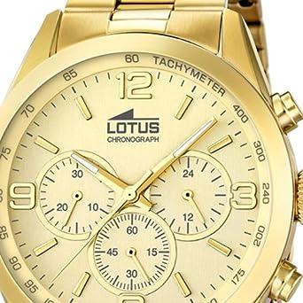 Lotus Reloj para de Cuarzo analógico con Correa en Acero Inoxidable 18153/2: LOTUS: Amazon.es: Relojes