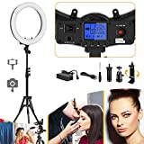 Ring Light, Pixel 19'' Bi-Color Ring Light Kit with LCD Display, 55W 3000-5800K CRI≥97 Makeup Ring Light for Vlogging Portrait Makeup Video Shooting(No Carrying Bag)