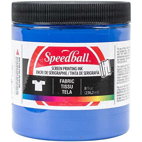 Speedball Art Products Fabric Screen Printing Ink, 8-Ounce, Blue Ink Art Screen Printing