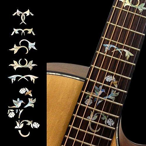 Fretboard Markers Inlay Sticker Decals for Guitar - Winding Vine w/Bird