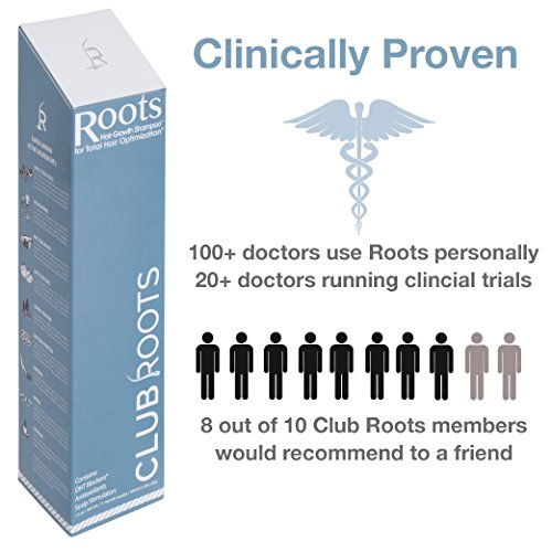 Roots Shampoo | Hair Growth Stimulating Shampoo with DHT Blocker, Biotin, Caffeine by Club Roots (Image #1)