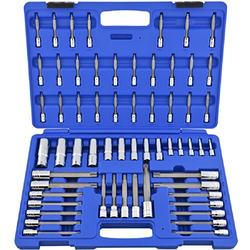 NEW Master Long Torx Socket Set | 60pc Tamper Proof Security Bits Plus External Star With Case from Brand New