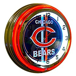 Chicago Bears Sign - 19 inch neon Clock
