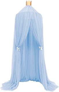 PROKTH Bed Canopy for Girls/Boys/Baby Games House, Mosquito Net for Bed Kids Playing/Reading, Round Dome Netting Curtains Mosquito Net Bed Canopy Play Tent
