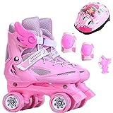4 Wheels Skates Quad Patins Roller 4 Rodas Children 4 Wheel Roller Skates For Kids Double Protection Row Speed Skating