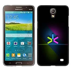 Design for Girls Plastic Cover Case FOR Samsung Galaxy Mega 2 Neon Color Minimalist OBBA