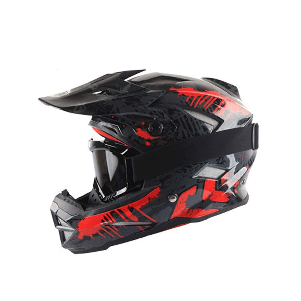 オフロードレーシングヘルメットオートバイ機関車マウンテンバイクスポーツフルカバレッジ (色 : 黒, サイズ さいず : S s) B07PCHLKLN  黒 S s