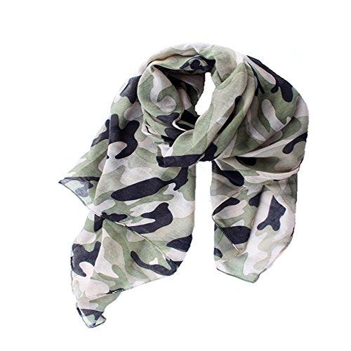 - ctshow Camouflage Print Voile Print Scarf Fashionable Women Scarves