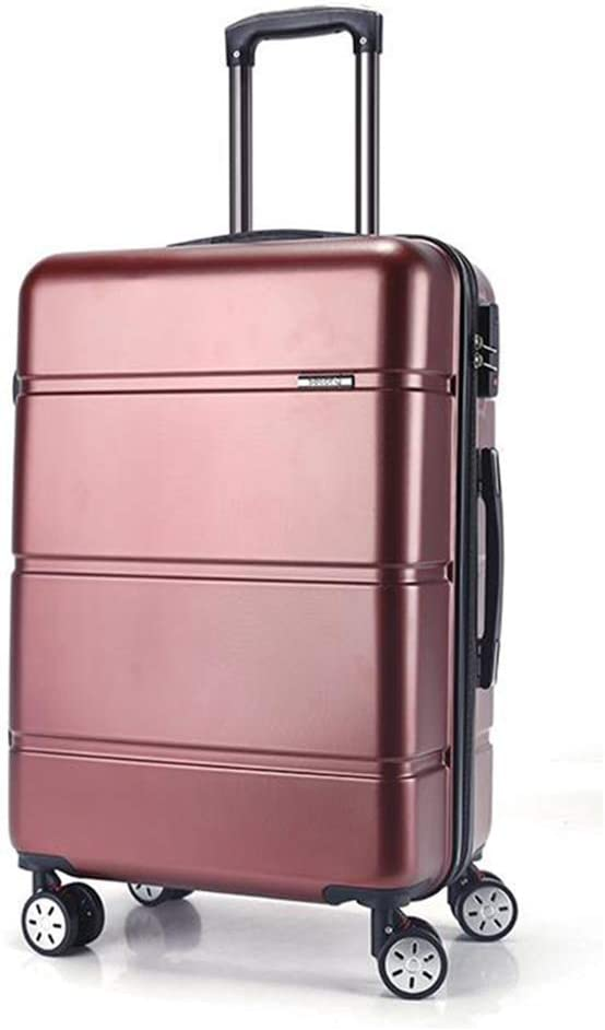 Color : Wine Red, Size : 22 Inches Jolly Luggage Super Lightweight Durable ABS Hardshell Hold Luggage Suitcases Travel Bags Trolley Case Hold Check in Luggage with 4 Wheels Built-in 3 Digit Combi