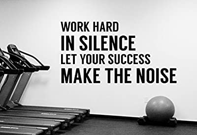 Inspirational Quote Decal Gym Motivational Wall Sticker Vinyl Art Decorations for Home Sports Room Fitness Training Center Studio Decor fgm4