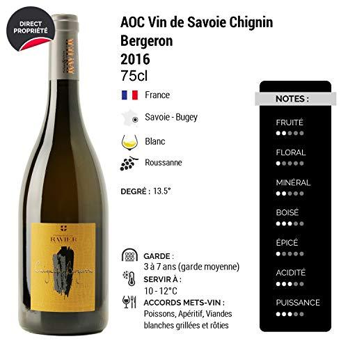 Vin-de-Savoie-Chignin-Bergeron-Barrique-Blanc-2016-Philippe-et-Sylvain-Ravier-Vin-AOC-Blanc-de-Savoie-Bugey-Cpage-Roussanne-Lot-de-12x75cl