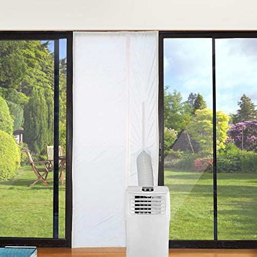 Jajadeal Aislamiento de Puerta para Aire Acondicionado Móvil, Cubierta Aislante de Tela para Puertas y Ventanas para Máquinas de Aire Acondicionado Portátiles y Secadora (Puerta 90x210cm): Amazon.es: Hogar