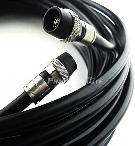 200ft COMMSCOPEMADE IN USA Direct Burial Underground RG-6 GEL Coat Flooded Coaxial Cable Moisture and Soil Acidity Tolerance Broadband Signal Transmission with AQUASEAL WATER TIGHT COMPRESSION RG6 COAXIAL FITTING CONNECTORS