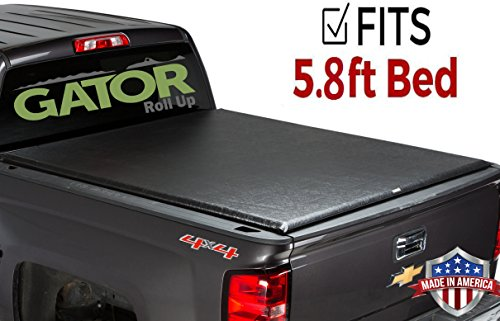 Gator ETX Soft Roll Up Truck Bed Tonneau Cover | 53109 | fits 14-18, 2019 GMC Sierra Limited/Chevy Silverado 1500 Legacy , 5.8' Bed | Made in the -