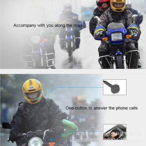 Bicicleta de esqu/í Control de Llamada de m/úsica 3T6B Casco de la Motocicleta Auriculares, Bluetooth 5.0 con micr/ófono Manos Libres para Motocicleta