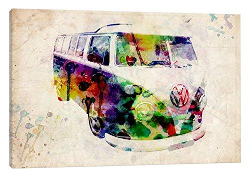 iCanvasART VW Camper Van (Urban) Canvas Print, 40