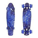 wonnv Retro Mini Cruiser 22 inch Complete Skateboard (Galaxy)