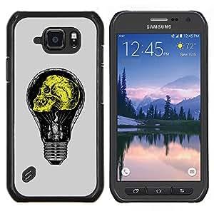 "Be-Star Único Patrón Plástico Duro Fundas Cover Cubre Hard Case Cover Para Samsung Galaxy S6 active / SM-G890 (NOT S6) ( Gris claro amarillo bulbo de la idea Amarillo"" )"