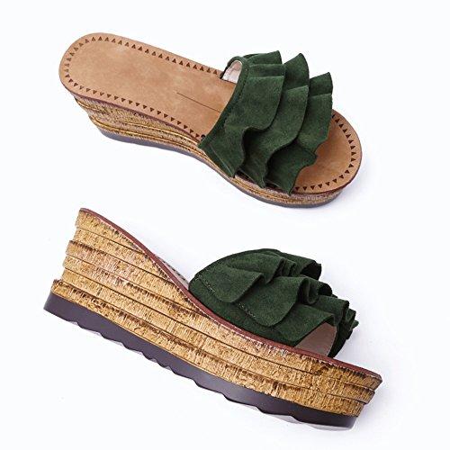 à Mot d'été Plate la Porter L'eau Gâteaux 1 LHA en de des Forme Vrac Nouveaux Imperméable Glisser avec Mode Femme Sandales épais Sauvages de Glissière Pantoufles Sandales Fond tpwqqBUK1Z