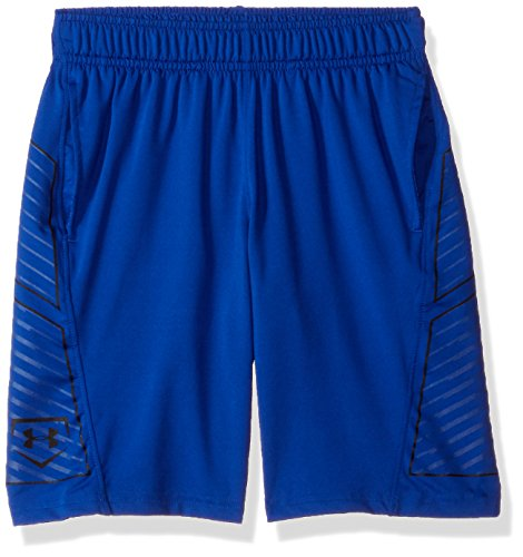 Under Armour Boys' Baseball Training Shorts, Royal (400)/Black, Youth Medium