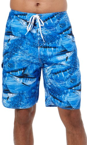 Guy Harvey Legend Camo Boardshorts - Royal Blue - Size 34