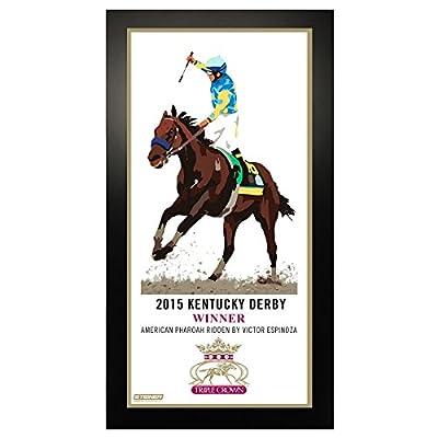 2015 Horse Racing Triple Crown Kentucky Derby Commemorative Artwork 10 Inch X 20 Inch Custom Framed Photo