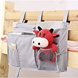 Cot with Changing Unit FakeFace 8 Pockets Hanging Bedside Caddy for Dorm Room Cabin Beds/Bunks Nursery Baby Cot Stroller Book Magazine Cellphone Kids Diaper Toys Cup Bottle Holder Tidy Organiser Storage Pouch Bag