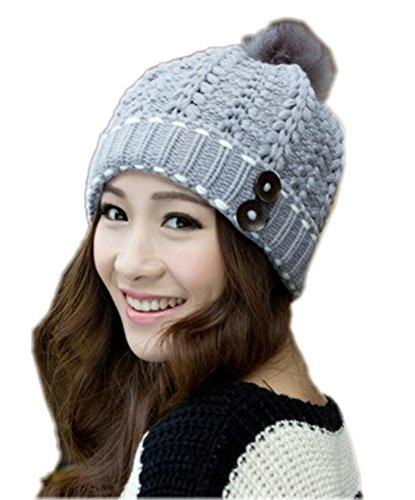 Spikerking Womens Winter Knitting Wool Hat Daily Slouchy Beanie Skull Cap