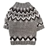 Hand Knit Dog Sweater Size: Small (8″ – 10″ L), My Pet Supplies