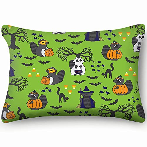 best bags Repeat Spooky Halloween Raccoons Animals Wildlife Animal Home Decor Wedding Gift Engagement Present Housewarming Gift Cushion Cover 20X30 Inch