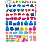 103 Pieces Play Dough Sand Art Clay Tools Sets Building Kit Mold Cutters for Kids Boys Girls Ages 3 and up Party Pack Favors
