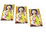 Yapree Handmade Goddess Saraswati Picture Poster : Set of 3
