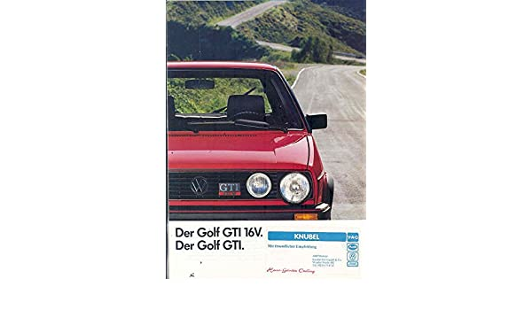 Amazon.com: 1987 Volkswagen Golf GTI & 16V Brochure German: Entertainment Collectibles