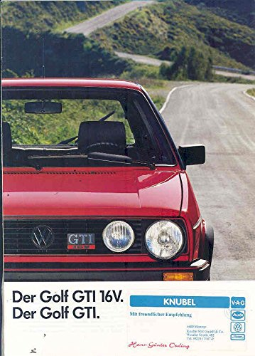Amazon.com: 1987 Volkswagen Golf GTI & 16V Brochure German: Entertainment Collectibles