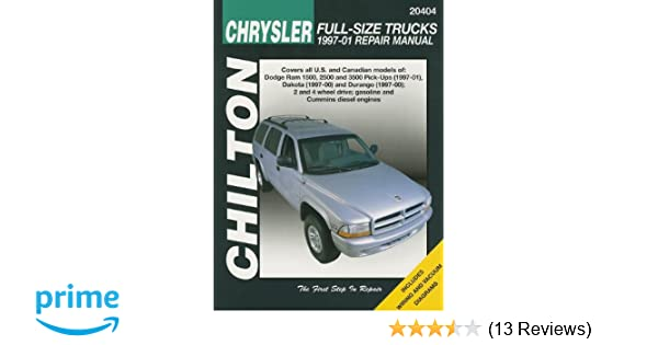 chilton chrysler full size trucks 1997 01 repair manual covers all rh amazon com 1997 dodge ram 1500 service manual pdf 1997 dodge ram 1500 service manual