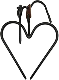 """product image for Saving Shepherd 16"""" Heart Dinner Bell Set - Amish Hand Forged Heavy Duty Wrought Iron Chime Hand Crafted & Made in The USA"""