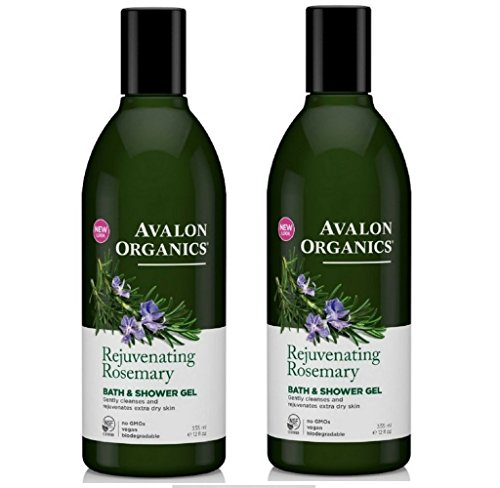 Avalon Organics Organic Massage Oil (Avalon Organics Bath & Shower Gel, Rosemary, 12-Ounces (Set of 2))