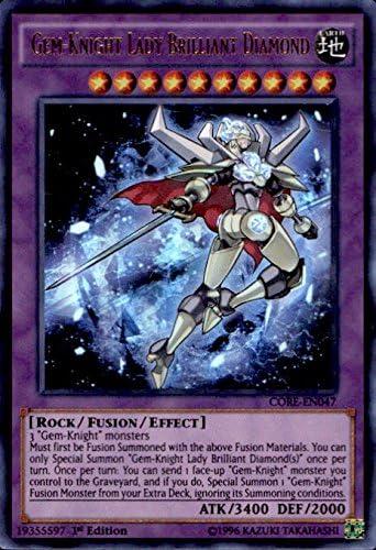 YuGiOh Gem-Knight Lady Brilliant Diamond Ultra Rare CORE-EN047 1st Edition NM