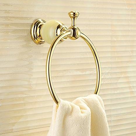 Hardwareh Toalla Oro Anillo Anillo de Cobre Completo Toalla de baño Toalla de Jade baños Estilo Europeo Antiguo Toallero Redondo,Verde Jademodern Sencillo y ...
