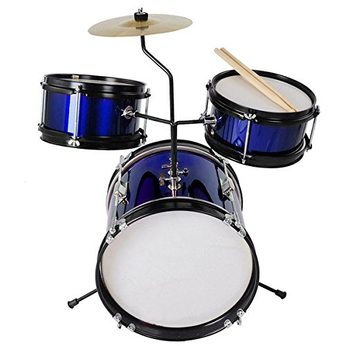 3pc 8'' Kids Drum Set with Cymbal Drum [blue]