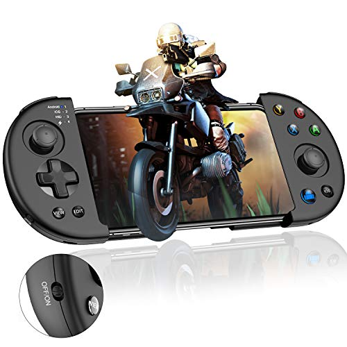 Mobile Game Controller, BEBONCOOL Android Controller for PUBG, Supports iPhone/iOS/Android, Wireless Mobile Controller for Android Games, Mobile Gaming Controller Works Mobile Key Mapping