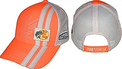 NASCAR Adult Driver Sponsor Adjustable Stripes Mesh Hat Cap-Tony Stewart #14 Bass Pro Shop
