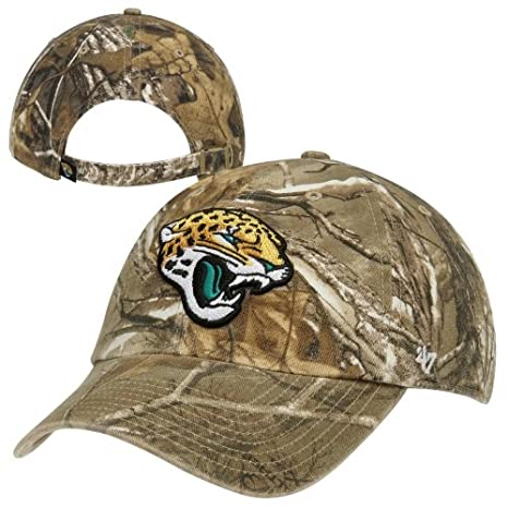 promo code 28a2a ab2a5 Image Unavailable. Image not available for. Color   47 Brand Jacksonville  Jaguars NFL Realtree Camo Clean Up Cap