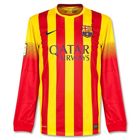 huge selection of 3aadd 42994 Nike FC Barcelona Long Sleeve AWAY REPLICA JERSEY (VIBRANT ...