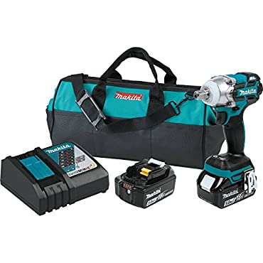 Makita XWT11T 18V LXT Lithium-Ion Brushless Cordless 3-Speed 1/2 Impact Wrench Kit