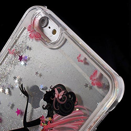 Apple iPhone 6Plus/6S Plus Étui cover Papillons liquide Multicolore decui Multicolore Plastique rigide Coque